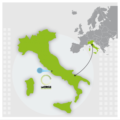 The-circle-on-Italy-map